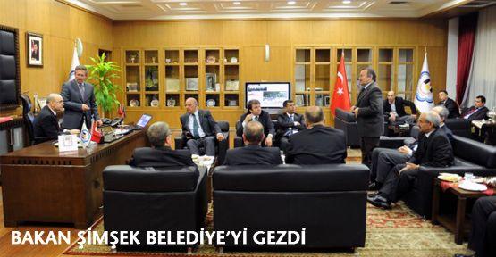 Bakan Şimşek Belediye'yi Gezdi!