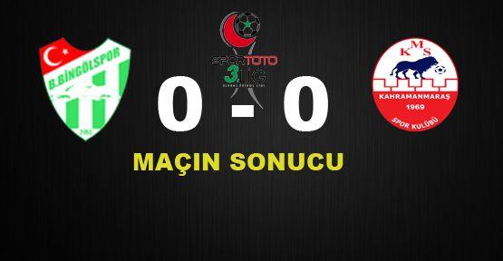 Belediye Bingölspor 0 - 0 Kahramanmaraşspor
