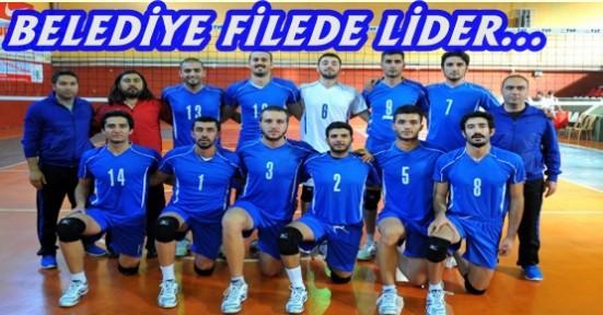BELEDİYESPOR FİLEDE LİDER