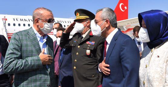 CUMHURBAŞKANI MARAŞ'A GELDİ