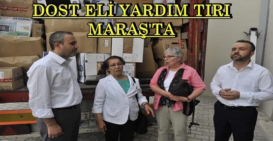 DOST ELİ YARDIM TIRI KAHRAMANMARAŞ'A GELDİ