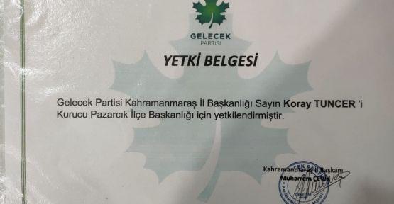 GELECEK PARTİSİ İLÇE BAŞKANI İSTİFA ETTİ