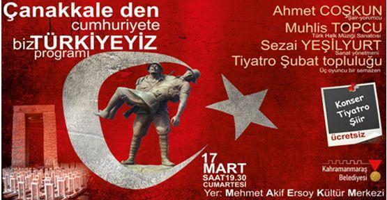 Kahramanmaraş Belediyeden 18 Mart Çanakkale Programı