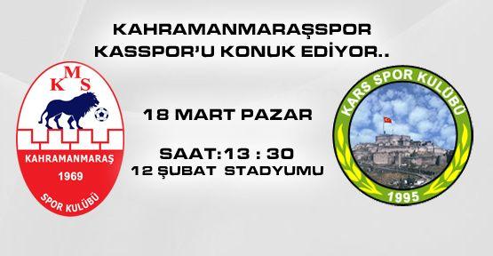 Kahramanmaraşspor Karsspor'u Konuk ediyor..