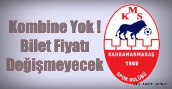 KAHRAMANMARAŞSPORDA BİLET FİYATLARI AÇIKLANDI