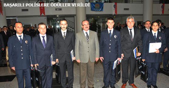 Kahramanmaraş'ta Başarılı Polisler Ödüllendirildi