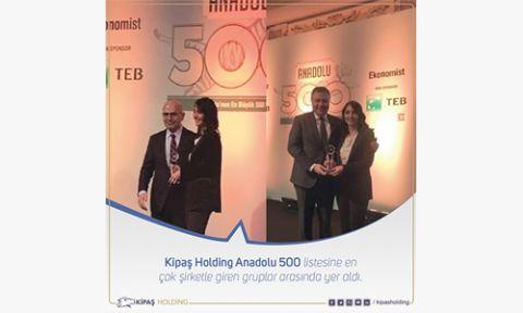 KİPAŞ HOLDİNG'İN  ANADOLU 500 BAŞARISI