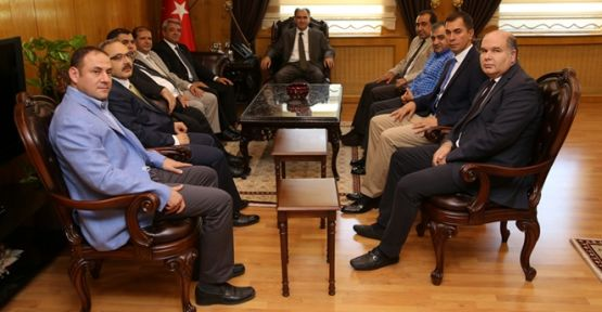 KMTSO Heyeti Vali Vahdettin Özkan'ı ziyaret ettiler