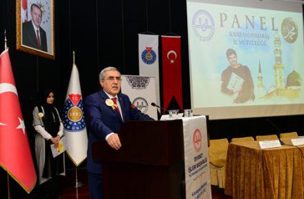 """KSÜ'DE """"HZ. PEYGAMBER VE GENÇLİK"""" KONULU PANEL DÜZENLENDİ"""