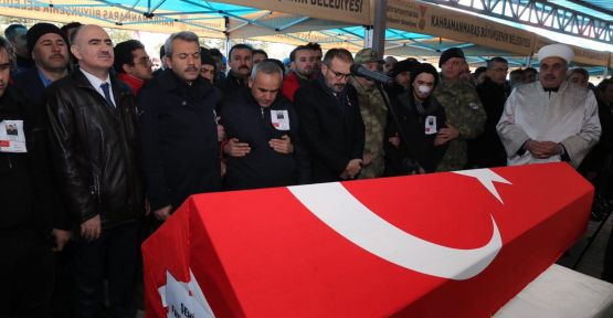 MARAŞ'LI ŞEHİT TOPRAĞA VERİLDİ