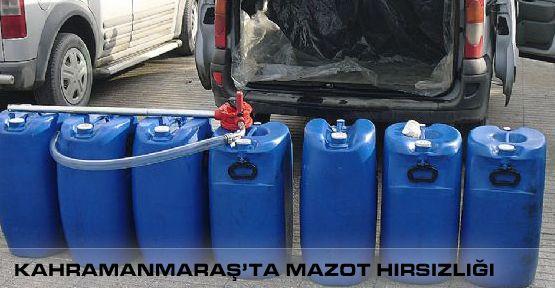 Pazarcık'ta Mazot Hırsızlığı
