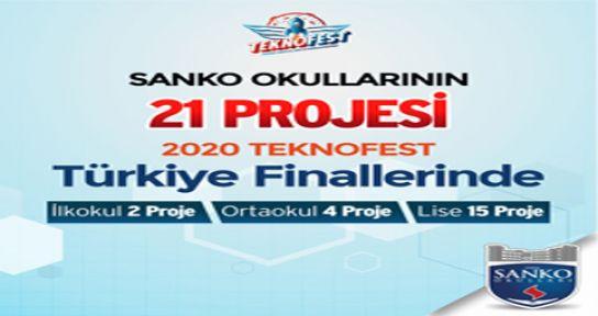 SANKO OKULLARI'NIN 21 PROJESİ FİNALLERDE