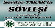 TYB KAHRAMANMARAŞ ŞUBESİNDEN 'SERDAR...