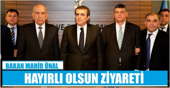 TİCARET BORSASI'NDAN MAHİR ÜNAL'A HAYIRLI OLSUN ZİYARETİ