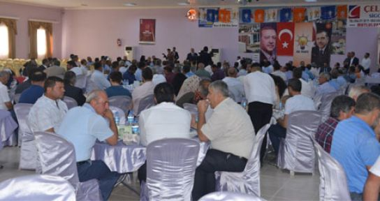 ÜNAL, PAZARCIK'TA MUHTARLARA SESLENDİ