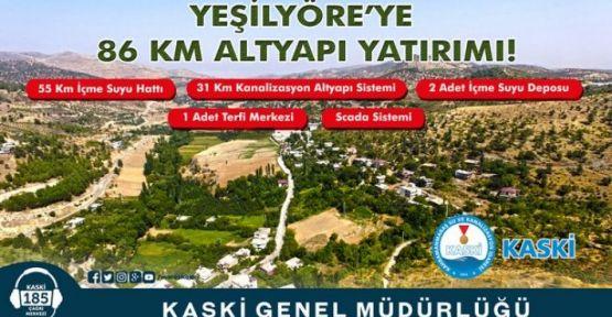 YEŞİL YÖRE'YE 86 KM ALTYAPI ÇALIŞMASI YAPILDI